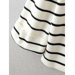 Back Lace-Up Striped Sweater - WHITE