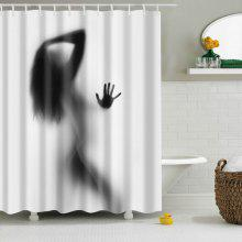 Eco-Friendly Charming Figure Printing Shower Curtain For Bathroom