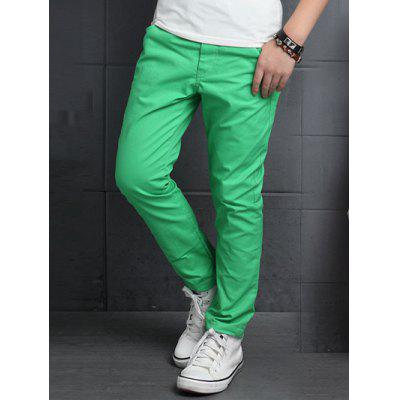 Buy APPLE GREEN Slimming Elastic Waist Solid Color Pants For Boy for $11.84 in GearBest store