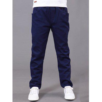 Buy CADETBLUE Slimming Elastic Waist Solid Color Pants For Boy for $11.84 in GearBest store