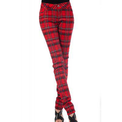 Plaid Pencil Pants