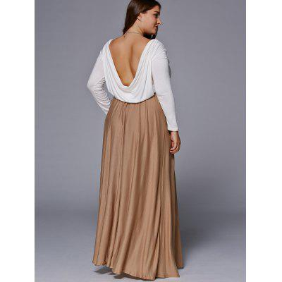 Chic Long Sleeve Plus Size Maxi Dress