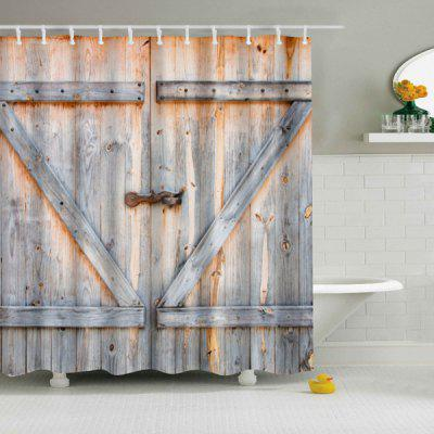 Hot Sale Eco-Friendly Dream Wood Door Printing Shower Curtain For Bathroom