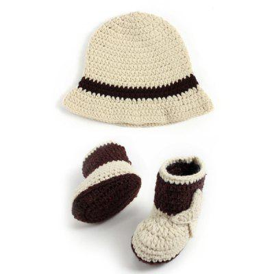 Crochet Cowboy Hat and Boots Photography Clothes For Baby