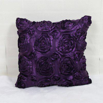 Mordern Style DIY Home Sofa 3D Roses Pillow Case