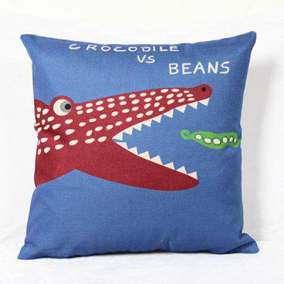 Chic Quality Cute Mouldproof Cartoon Crocodile Pattern Pillow Case