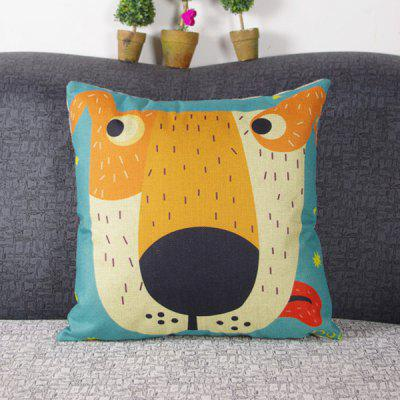 Chic Quality Cute Mouldproof Cartoon Big Face Dog Pattern Pillow Case