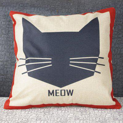 Mouldproof Hot Sale Cute Cartoon MEOW Cat Pattern Pillow Case