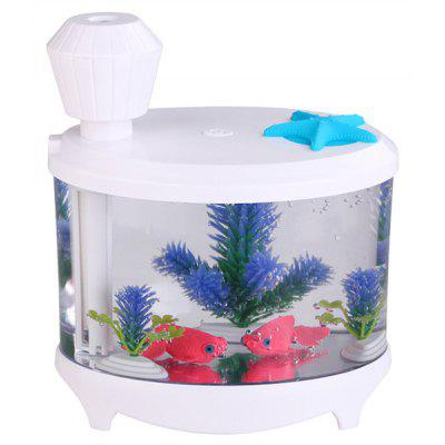 Creative USB Fish Tank Lucency Spray Night Light Humidifier