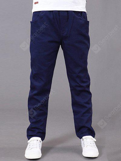 CADETBLUE Slimming Elastic Waist Solid Color Pants For Boy