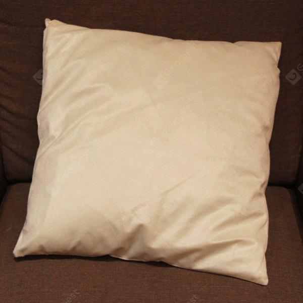 Chic Quality DIY Home Sofa Flocking Candy Pure Color Pillow Case