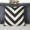 Chic Quality Mouldproof Geometric DIY Home Sofa Arrows Diamond Pillow Case - WHITE AND BLACK
