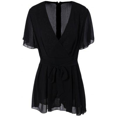 Plus Size Flare Sleeve Romper