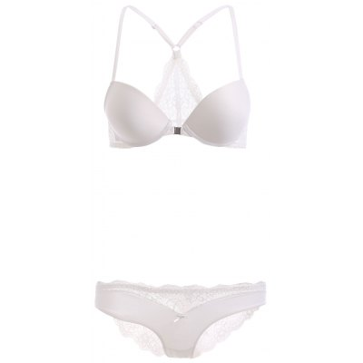 Front Closure Lace Knickers and Bra Set