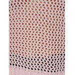 Cold Shoulder Openwork Pure Color Sweater - NUDE