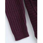 Simple Women's Double Pockets Pure Color Collarless Cardigan - WINE RED