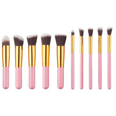 Stylish 10 Pcs Classic Nylon Facial Eye Makeup Brushes Set