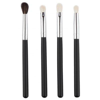 Stylish 4 Pcs Soft Wool Eye Makeup Brushes Set