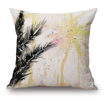 Watercolor Coconut Tree Pattern Sofa Car Cushion Pillow Case