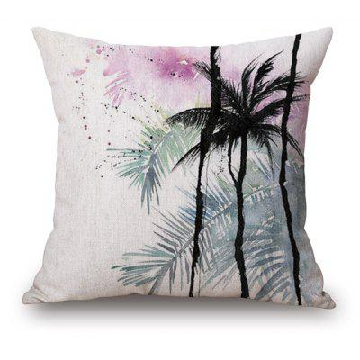 Watercolor Palm Tree Print Home Decorative Pillow Case