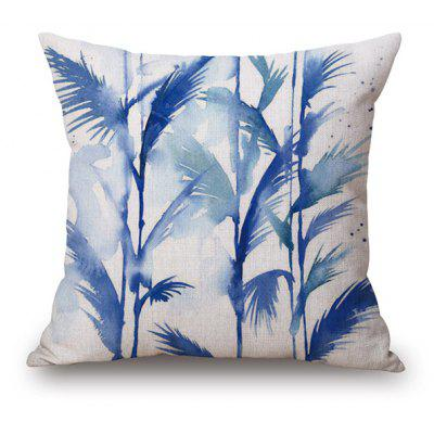 Watercolor Reed Pattern Home Decorative Pillow Case