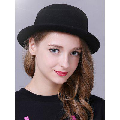 Elegante Braid Decorado Bowler Hat