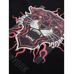 BoyNewYork Black Hooded 3D Tiger Head Print Hoodie deal