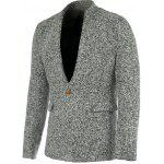 Buy GRAY Stylish Stand Collar Long Sleeve Gray Melange Wool Blazer For Men for $39.77 in GearBest store