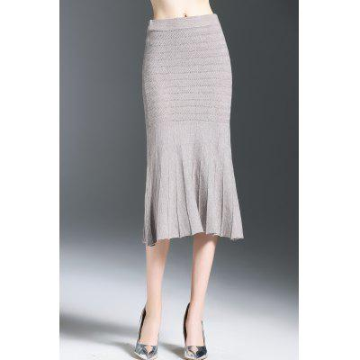 Midi Mermaid Jersey Skirt