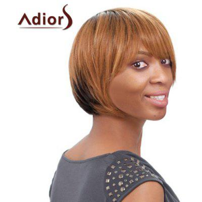 Buy COLORMIX Short Side Bang Straight Mixed Color Women's Faddish Adiors Synthetic Hair Wig for $16.82 in GearBest store