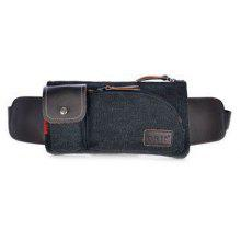 Leisure Splicing and Magnetic Closure Design Messenger Bag For Men