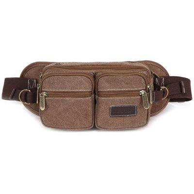 Canvas Design Messenger Bag For Men