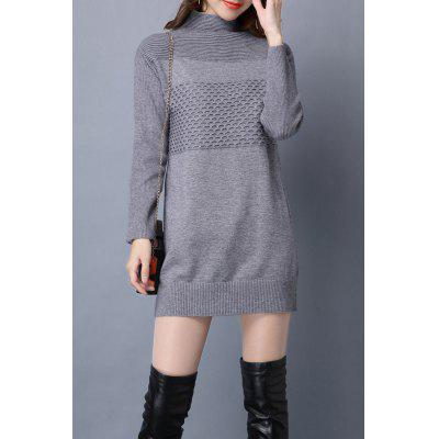 Turtleneck Jacquard Long Sleeve Sweater
