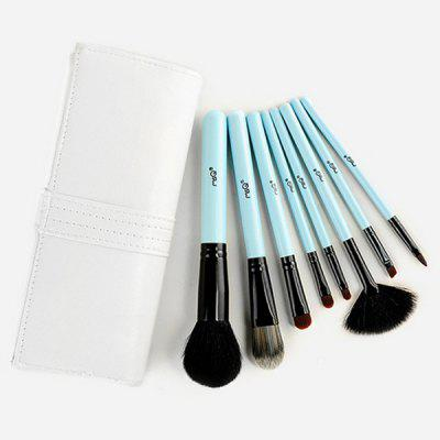 Stylish 8 Pcs Goat Hair Fiber Facial Eye Lip Makeup Brushes Set with Storage Package