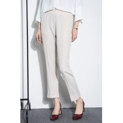 High Waist Flanging Pencil Pants
