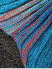 Fashion Stripe Knitted Mermaid Tail Design Blanket For Kids - BLUE AND ORANGE