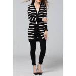 Striped Sheath Long Cardigan for sale