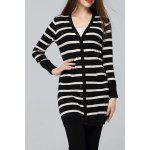 Striped Sheath Long Cardigan deal