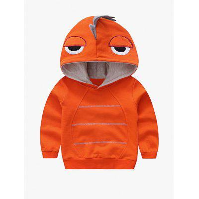 Hooded Cartoon Shape Design Embroidered Hoodie