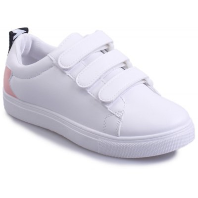 Leisure PU Leather and Letter Pattern Design Athletic Shoes For Women