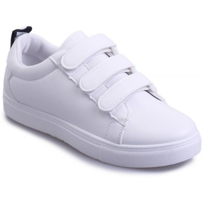 Leisure PU Leather e Letter Pattern Design Athletic Shoes para mulheres