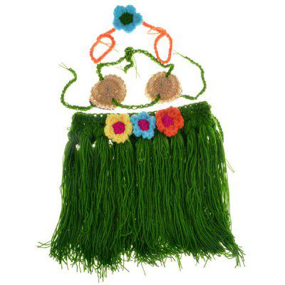 Hula Flower Decorative Crocheted Photography Clothes Set For Baby