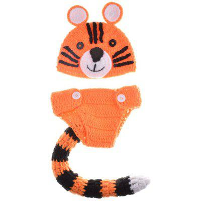 Buy ORANGE Yarn Knitted Tiger Shape Photography Clothes Set For Baby for $9.07 in GearBest store