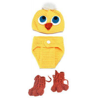 Knitted Duck Animal 3PCS Photography Baby Clothes Set