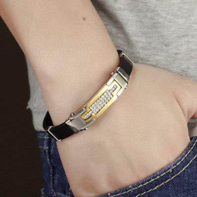 Stylish Shiny Rhinestone Silicone Bracelet For MenMens Jewelry<br>Stylish Shiny Rhinestone Silicone Bracelet For Men<br><br>Chain Type: Others<br>Gender: For Men<br>Item Type: Charm Bracelet<br>Metal Type: Alloy<br>Package Contents: 1 x Bracelet<br>Shape/Pattern: Others<br>Style: Trendy<br>Weight: 0.058kg