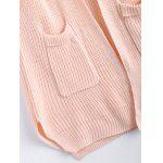 Soft Solid Color Pocket Design Cardigan - PINK