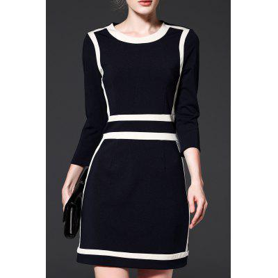 A Line Color Block Dress