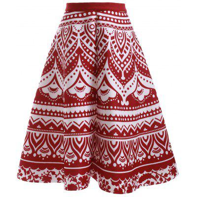 Fashion Printed High Waisted Skirt For Women