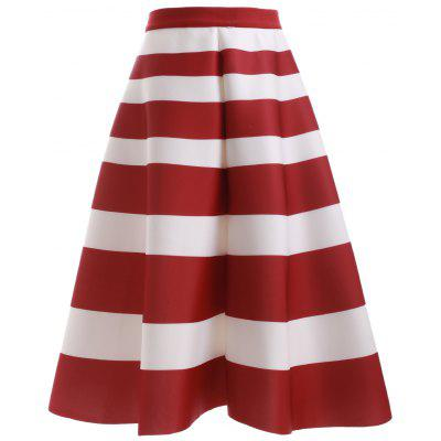 Fashion High Waisted Stripes Skirt For Women