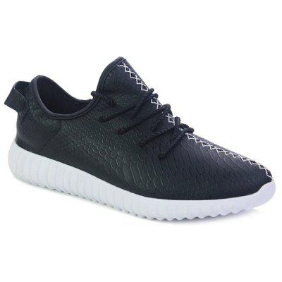 Trendy Embossing and Stitching Design Casual Shoes For Men